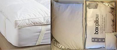 BEST Duck Feather/Goose Feather & Down Mattress Topper/Pillow Pair/Box