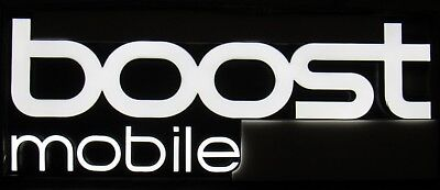 New Large 8 X 3 Boost Mobile Led Lighted Sign Indoor Outdoor Channel Letter