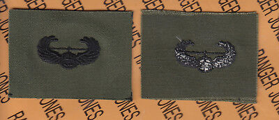 US Army Air Assault OD Green & Black BDU badge cloth patch
