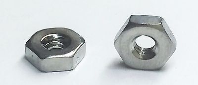 Stainless Steel Hex Machine Screw Nut 2-56 Qty 500