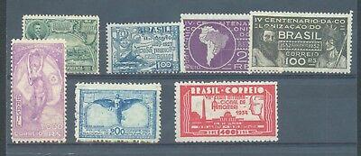 Brazil 1922-34 sg.434, 439, 513-4, 548-9, 551 MH