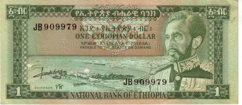 Ethiopia $1 P25 Haile Selassie Banknote XF/AUC