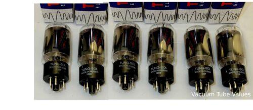 Tung-Sol Factory Platinum Matched SEXTET 6L6 NIB 6L6GC STR tubes 24 Hr Burn-in