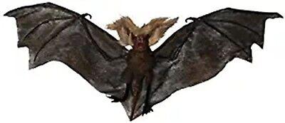 Nocturnal Batcave Flying Vampire Black Bats Decoration Large Wings - Bat Cave Halloween Decorations