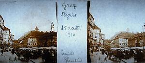 Photographie scène de marché Graz en Autriche Styrie 25 Août 1910 Marktszene - France - Breizh.antiques.art@gmail.com 06 47 07 70 65 PH23 Dimensions :10,5 cm par 4,5 cm Plaque stéréoscopique . Envoi rapide et soigné . Contact : breizh.antiques.art@gmail.com Phone : partir de France : 06 47 07 70 65 Abroad : 0033 647 077 065 Notre - France
