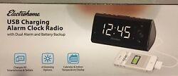 Magnasonic Alarm Clock Radio with USB Charging ,Dual Alarm, Battery Backup (NIB)
