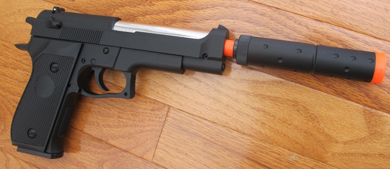 Heavy Weight Beretta M9 Style Airsoft Spring Pistol Metal