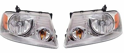 TIFFIN ZEPHYR 2008 2009 2010 2011 PAIR SET CHROME HEADLIGHT HEAD LAMP RV - SET