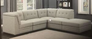 5-PIECE LIVING ROOM SECTIONAL ( light grey )