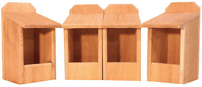 4 Cedar Nesting Boxes, for Robins, Cardinals, Bluebirds, Titmouse.... Bird House
