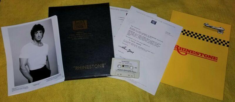 RHINESTONE original press kit SYLVESTER STALLONE DOLLY PARTON 5 photos rare tape