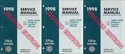 1998 Cadillac Deville and Eldorado Shop Manual Set Second Edition Service Books