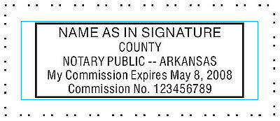 Arkansas Custom - Pre-ink- Official Notary Seal Rubber Stamp Office Use