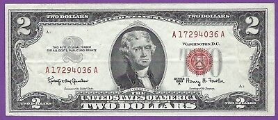 2 00 United States Note   1963 A   Granahan Fowler   A17294036a