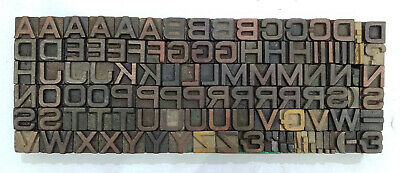 Vintage Letterpress Woodwooden Printing Type Block Typography 105 Pc 13mm Tp68
