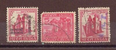 India, Refugee Relief & Family Planning, Used, 1965, 1971