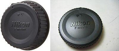 1 X NIKON REAR LENS CAP + 1 X NIKON CAMERA  BODY CAP Ai Ais A/F-D A/F-S, F Mount
