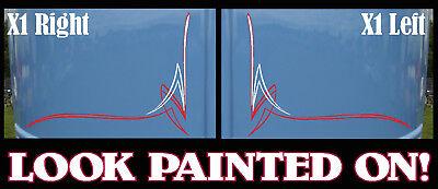 x2 Custom Rat,hot rod Pinstripe decal sticker  #2