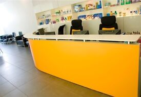 Reception desk for sale in excellent condition