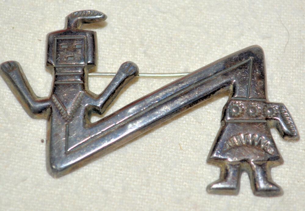 FJ navajo pin brooch sterling silver Felix Joe