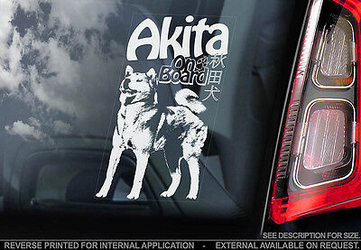 Akita Japanese - Car Window Sticker - ...