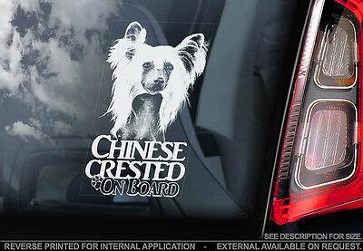 Chinese Crested Dog - Car Window Sticker - Dog Sign -V03