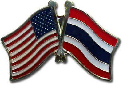 Wholesale Pack of 24 USA American Thailand Friendship Flag Hat Cap lapel Pin