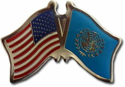 Pack of 50 USA American United Nations Friendship Flag Hat Cap lapel Pin
