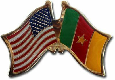 Wholesale Pack of 50 USA American Cameroon Friendship Flag Hat Cap lapel Pin