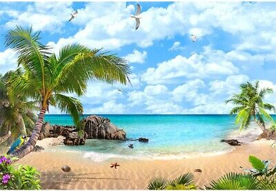 Beach Photography Backdrops Ocean Luau Backdrop Hawaii Tropical Background - Luau Background