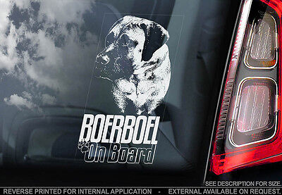 Boerboel - Car Window Sticker - Dog Sign -V06