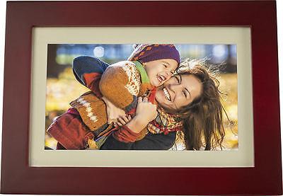 "Insignia - 10"" Widescreen LCD Digital Photo Frame Espresso - UD"
