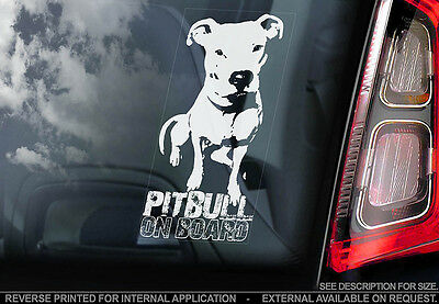 Pitbull - Car Window Sticker - Dog Sign -V03