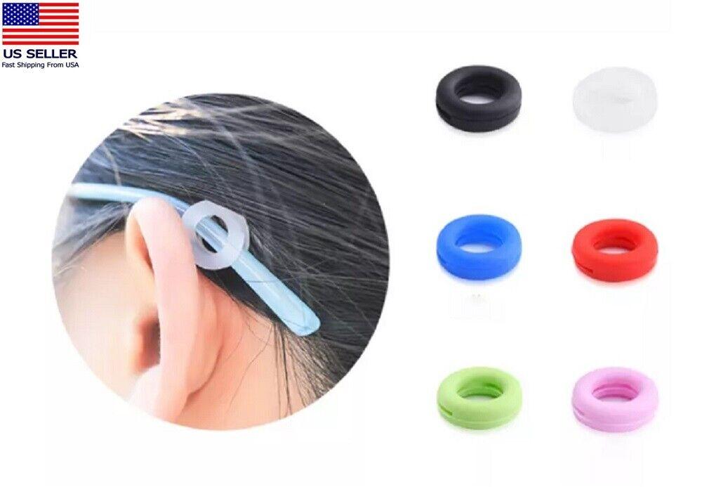 6 Pairs Anti Slip Glasses Ear Hooks Tip Eyeglasses Grip Temple Holder Silicone Eyeglass Straps, Cords & Grips