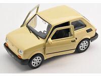 Fiat 126P Polski Cabrio Gelb 1972-2000 1//43 Modellcarsonline Modell Auto mit o..