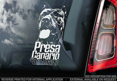 Presa Canario - Car Window Sticker - Dog Sign -V02