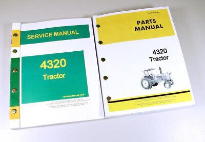 Service Manual Parts Catalog Set For John Deere 4320 Tractor Shop Book Repair