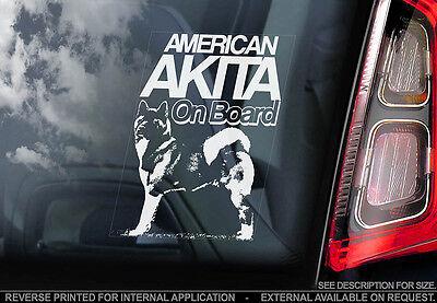 American Akita - Car Window Sticker - ...
