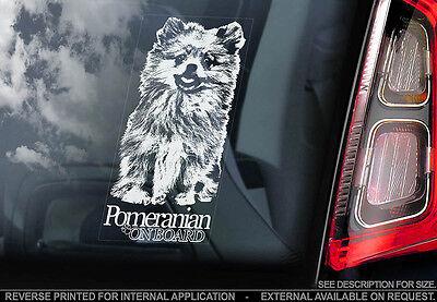Pomeranian - Car Window Sticker - Dog Sign -V01