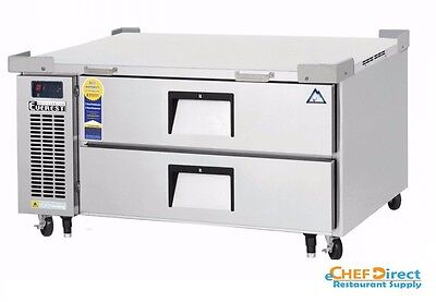 Everest Ecb48d2 48-38 One Section Two Drawer Side Mount Refrigerated Chef Base