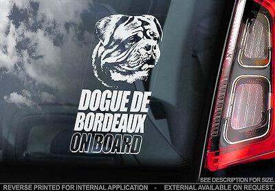 Dogue de Bordeaux - Car Window Sticker - Dog Sign -V01