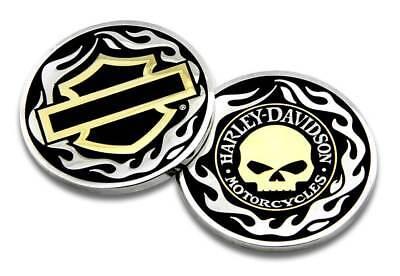 Harley-Davidson Golden Skull / Bar & Shield Challenge Coin, 1.75 inch 8005092