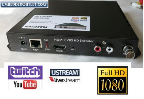 HDMI Composite Encoder Youtube Twitch Ustream LiveStream Live Broadcast IP Video