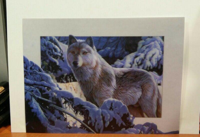 Wolfs lenticular print