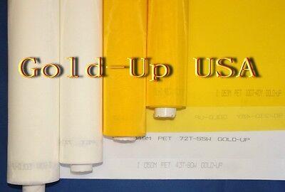 "10 yards- 305 Yellow x 63"" Width Silk Screen Printing Mesh Fabric"