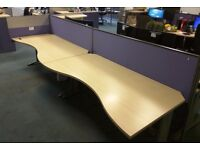 office desks LOGIK, 1800mm maple colour batch of 4 - more if required £100
