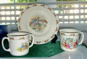 BUNNYKINS Child's Set ROYAL DOULTON English Fine Bone China