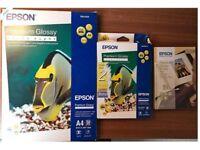 Epson Premium Glossy Photo Paper (several sizes)
