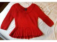 "H&M wool ""angora"" knitted top size small"