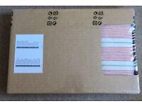 IKEA Ektorp Footstool cover - MOBACKA Ticking Stripes red/beige